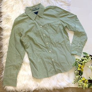 American Eagle outfitters |Green button down shirt